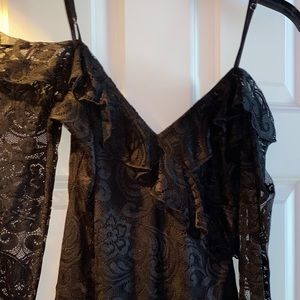 Guess Other - lace black bodysuit